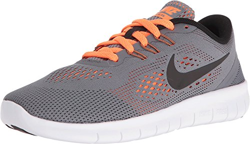 Nike Mädchen gratis RN (GS) Gymnastik Schuhe, Cool Grey/Black/Total Orange - Größe: 24 EU M Großes Kind (Black Free Kids Schuhe Nike)