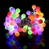 LED Globe String Lights - Speclux 10M 100 LEDs Ball String Lights, RGB Plug-in Ball Globe Fairy Lights,8 Modes Lights for Wedding,Home,Garden,Valentine,Party,Indoor & Outdoor Use