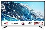 SHARP 4K Ultra HD Smart LED TV, 123 cm (49 Zoll), Harman/Kardon Soundsystem, 3 HDMI Anschlüsse, LC-49UI7252E, Schwarz,