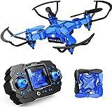 DROCON Mini Drone para niños y Principiantes, Mini helicóptero Plegable RC RC Quadcopter con retención de altitud, Modo sin Cabeza, Flips 3D y función de Giro de Alta Velocidad