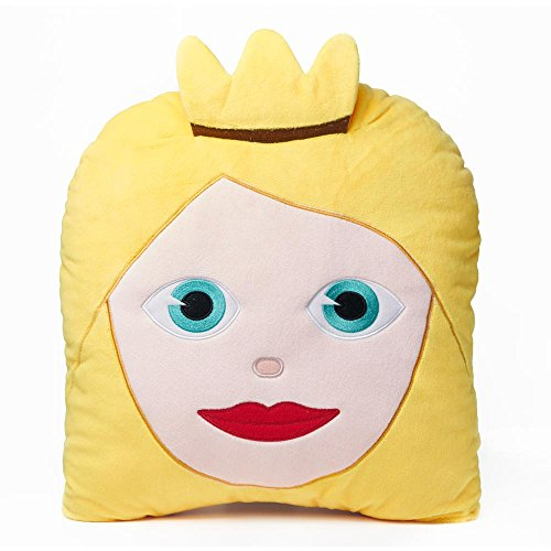 Emojiâ ® principessa cuscino emoji brand–super soft, super morbido cuscino. questo è un grande o emoji emoticon cuscino da emojiâ ®
