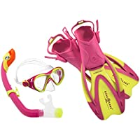Aqua Lung Sport La Costa Junior Pro Dive Kinder 3er Set (Tauchmaske, Schnorchel & Flossen) inkl. Beutel