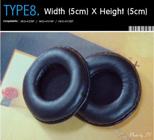 Kopfhörer Ohrkissen, Ohrpolster Ersatz für Kopfhörer, Kompatibel mit AKG-K26P, AKG-K414P, AKG-K416P (Packaged 1 Paar (2 Stück)) Type 8 thumbnail