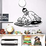 wandaufkleber baum eule wandaufkleber gras Nachtclub Music Boy DJ Mixer Musik Player Music Club Decor Home Musik Aufkleber