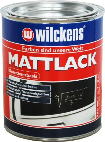 Wilckens Mattlack, schwarz, 750 ml 12590500050 (Außen Lackfarbe)