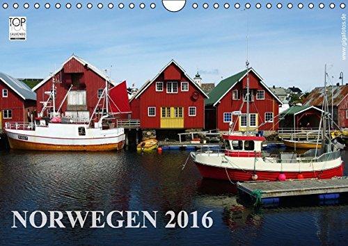 Norwegen 2016 (Wandkalender 2016 DIN A4 quer): Unverfälschte Landschaften und Orte in Norwegen (Monatskalender, 14 Seiten)