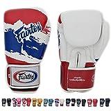 Fairtex guantes de Muay Thai BGV1Edición limitada tailandés orgullo tamaño: 10121416oz. Ven con algodón elástico Handwraps. Entrenamiento sparring guantes de Kick Boxing MMA K1, color Thai Pride, tamaño 12 onzas