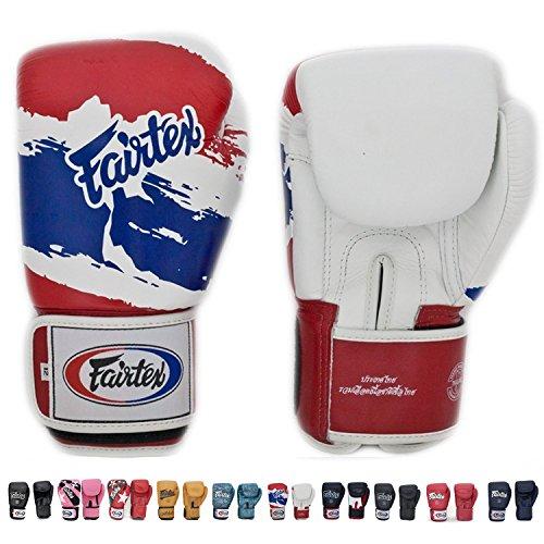 Fairtex Muay Thai boxe guanti bgv1Thai Pride Edizione Limitata, taglia: 10, 12, 14e 16oz come con cotone elastico elastica. Formazione Sparring Guanti per kick boxing MMA K1, Thai Pride, 14 oz