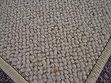 Berber Kettel Teppich Natur 100% Schurwolle 300 x 200 cm