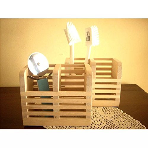 Onlineshoppee Wooden Multipurpose Holder For Spoons, Brush Chopsticks 1 Stand
