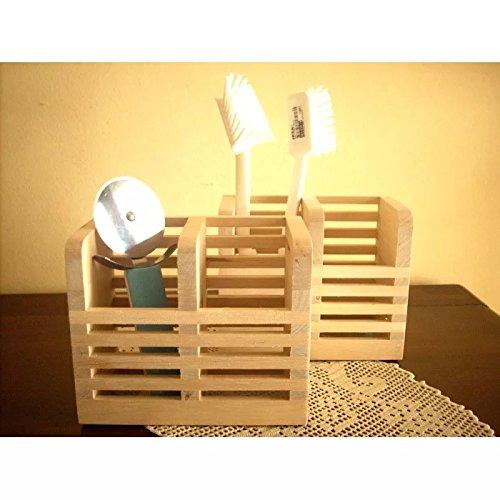 Onlineshoppee Wooden Multipurpose Holder For Spoons, Brush Chopsticks 1 Stand