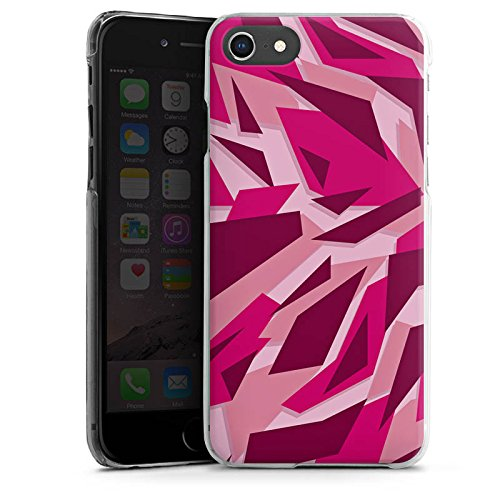 Apple iPhone SE Silikon Hülle Case Schutzhülle Pink Camouflage Muster Hard Case transparent