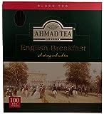 Ahmad Tea- English Breakfast, Schwarztee 100 St. á 2 Gramm Beutel- Tee, Aroma-versiegelt in Folie Verpackt