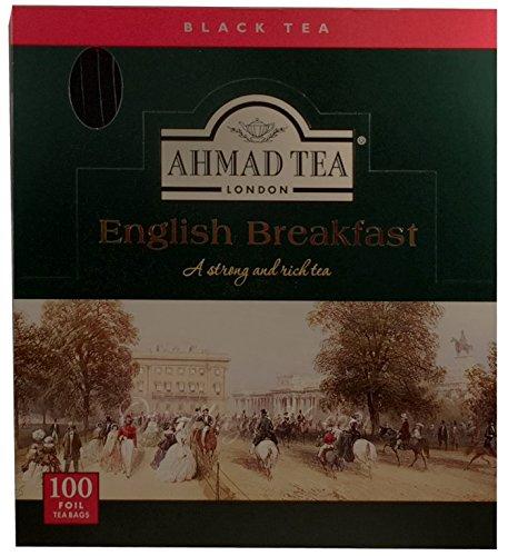 Ahmad Tea – English Breakfast | Schwarztee-Mischung | 100 Teebeutel á 2 g mit Band und aromaversiegelt in Folie verpackt