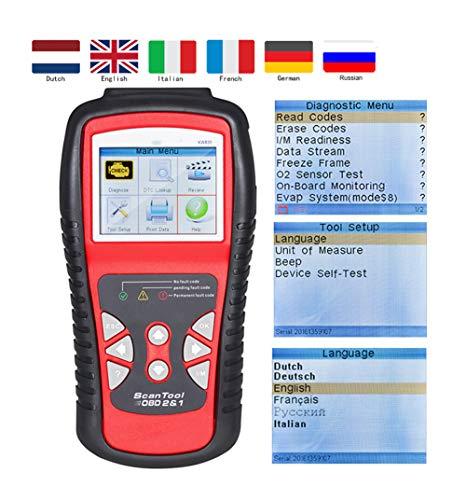 Preisvergleich Produktbild Professioneller Auto OBD II Scanner Automatische Diagnosefehler Code Leser Auto-Inspektion Motor Licht Diagnose EOBD Scan Werkzeug Schwarz
