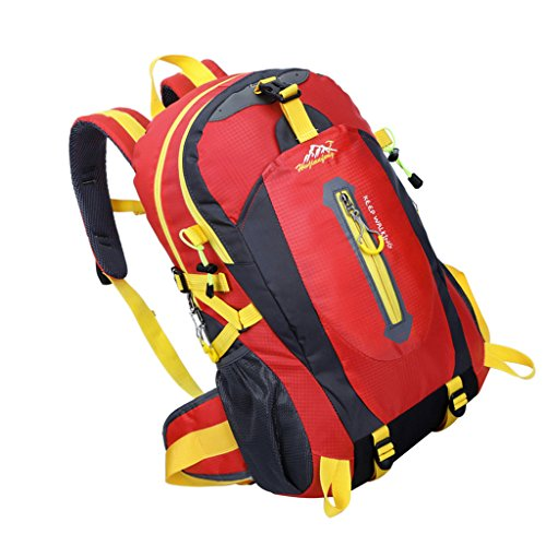 Imagen de deportiva   bolsa de senderismo acampar al aire libre resistente al agua deporte 40l  rojo, 30 * 52 * 20cm