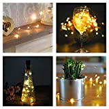 ThEssentials Copper Strings with Cork Shaped Battery & 30 LED Bulbs Waterproof, Large (Multicolour)