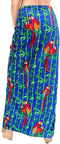 coprire avvolgere sarong donne del pannello esterno beachwear costume da bagno costumi da bagno costume da bagno pareo Blu