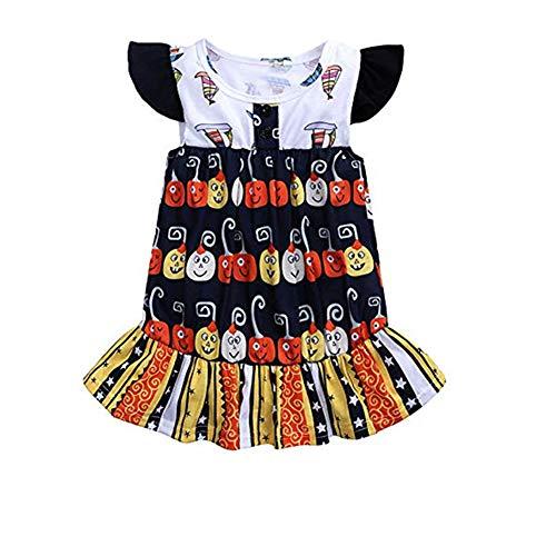 Kostüm Patriotische Mädchen - sunnymi Baby Mädchen Halloween Kürbis Kleid Kostüm Outfits Für 1-5 Jahre