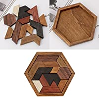 Kalttoy 3D Chinese Wooden Puzzle Game Chexagon Model Brain Teaser Jigsaw Building Blocks