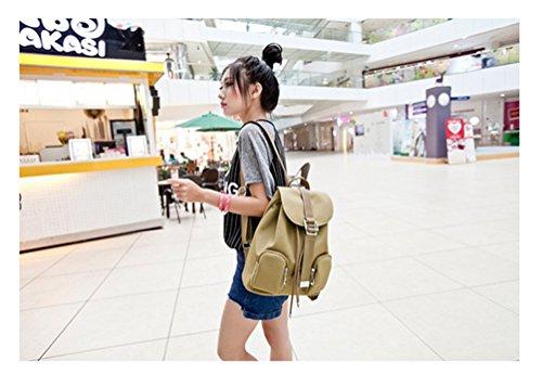 Go Further Neue wasserdichte Art und Weise Urlaubsreisen reine Farbe rot Rucksack für Frauen und Mädchen Beige