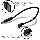 EXINOZ® Mini Power Cable For Fire TV Stick (2 Pack). Powers the Fire TV Stick from Your TV USB Port (2 Pack)