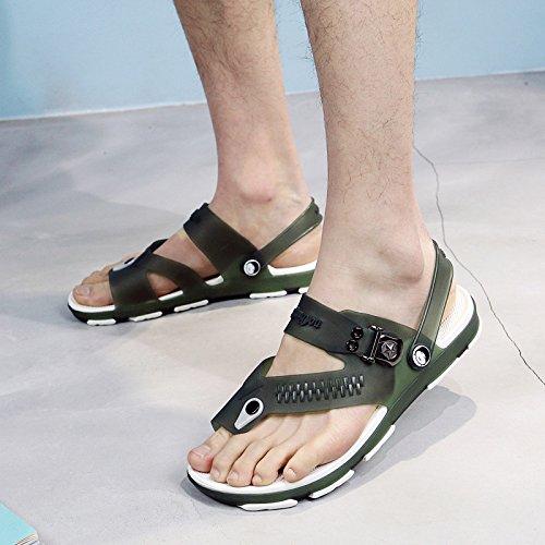 les chaussures de plage l'été des hommes les pantoufles de pantoufles et chaussures sandales pour hommes Green