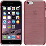 PhoneNatic Case für Apple iPhone 6s / 6 Hülle Silikon rosa brushed Cover iPhone 6s / 6 Tasche + 2 Schutzfolien