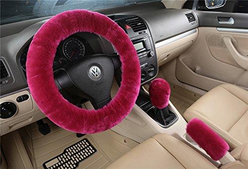 silence-shopping-3pcs-hiver-laine-chaud-handbrake-couverture-de-levier-de-vitesse-cover-volant-cover