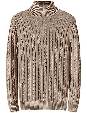 Mens Cuello Alto Suéter Jersey De Manga Larga Con Estilo Jersey De Punto Ocio Jersey Jersey Superior