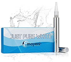 Dentist Teeth Whitening Pen by Just Pure Hut - Zero Peroxide Gel - Advanced Professional Home Whitener Kit - No Strips Syringes Trays or Toothpaste - Non Bleaching Tooth System Perfect for Sensitive Pearly Whites