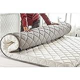 CNZXCO Matratzenschoner Tatami Boden matratze Schlafen pad, Matratzenbezug Geldklammer Folding Hautfreundliche Matratzenauflage Futon-matten Doppelbett-pad-Weiß 200x220cm(79x87inch)