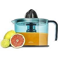 Exprimidor eléctrico para naranjas y cítricos de 40 W con filtro de acero inoxidable. Tambor de 1 litro BPA Free. Doble sentido de giro, doble cono y cubierta antipolvo. ZitrusEasy Inox de Cecotec