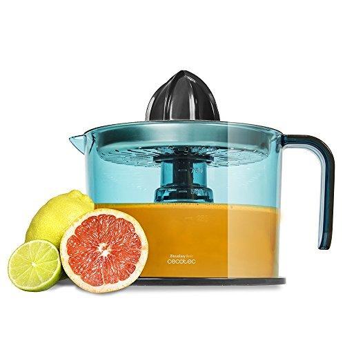 Cecotec ZitrusEasy Inox - Exprimidor eléctrico para naranjas y cítri