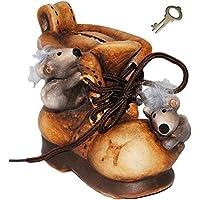 alles-meine.de GmbH 3-D Effekt _ Spardose - Schuh mit Lustigen Mäusen - mit Schlüssel und SCHL.. preisvergleich bei kinderzimmerdekopreise.eu