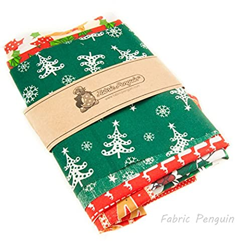 Christmas Fabric Scraps Bag 100G Bundle For Craft Remnants Polycotton Off cuts