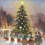 Biglietti di Natale di beneficenza (alm4380)–Natale carolling–in aiuto di cani guida per la tenda Associazione, confezione da 8biglietti