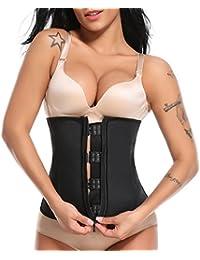 SLIMBELLE Femme Taille Formateur Latex Sauna Top Body modeleur Corset  Cincher Perte de Poids Ceinture Gilet 8abd45b5703