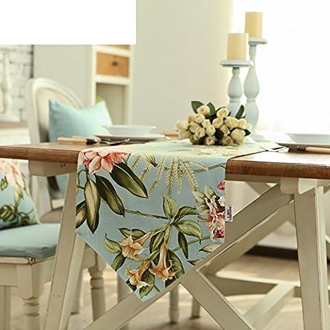un two-tier table runner/ tavolo/ bandiera/Panno del tavolo da pranzo di stile europeo/ tessile giardino table runner-A 35x220cm(14x87inch)