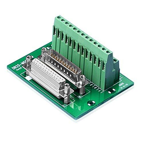 SIENOC D-SUB DB25 Stecker / Buchsenleiste Breakout Board DSUB Steckverbinder (DB25 Breakout - Db25-stecker