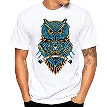 Elecenty Herren T-shirt ,Sommerhemd Haushemd Polo Hemd Mode Drucken Kurzarm Hemden Pullover Freizeithemd Solide Bluse T-Stücke Männer Sommerbluse Tops Blusen Pulli Blusentop