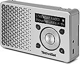 TechniSat DIGITRADIO 1 / Digital-Radio Made in Germany (klein, tragbar, für Outdoor geeignet) mit Lautsprecher, OLED-Display, DAB+, UKW, Favoritenspeicher und leistungsstarkem Akku, silber