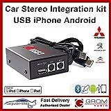 Grom Audio (USB3) USB Android iPhone Autoradio-Einbausatz für Mitsubishi 02 - unterstützt Apple-Blitzanschluss. 3000GT Galant Lancer Outlander Mirage
