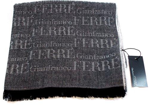 Gianfranco Ferre Foulard Unisex Logata Made in Italy Cm 180x45 Grigio