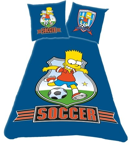 'Simpson' Soccer Bed Linen for Single Bed