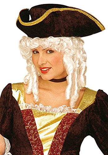 Karneval Klamotten Kostüm Perücke Edelfrau Rokoko Luxus Zubehör Fasching Karneval (Edelfrau Kostüm)