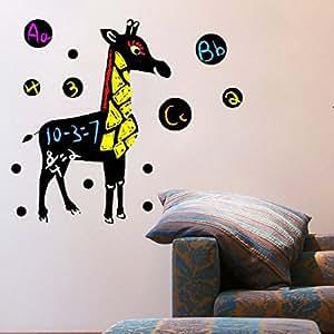 Cute Giraffe mur vinyle devis pour accueil
