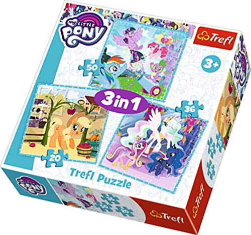 trefl 3in1 My Little Pony Puzzle 20-36-50 Teile, Mehrfarbig, 34843