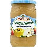 andros Compote pomme nature, sans sucres ajoutés - ( Prix Unitaire ) - Envoi Rapide Et Soignée