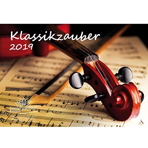 Klassikzauber · DIN A4 · Premium Kalender 2019 · Klassik · Musik · Konzert · Oper · Orchester · Geschenk-Set mit 1 Grußkarte und 1 Weihnachtskarte · Edition Seelenzauber